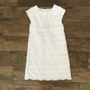 Zara Girls Soft Collection White Dress 13/14